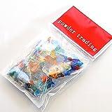 琉球ガラス カレット 【小サイズ】 30g ミックスカラー レジン封入 パーツ かけら パウダートレーディング