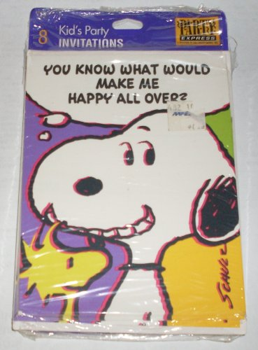 Hallmark Peanuts Snoopy Birthday Party Invitations - 1
