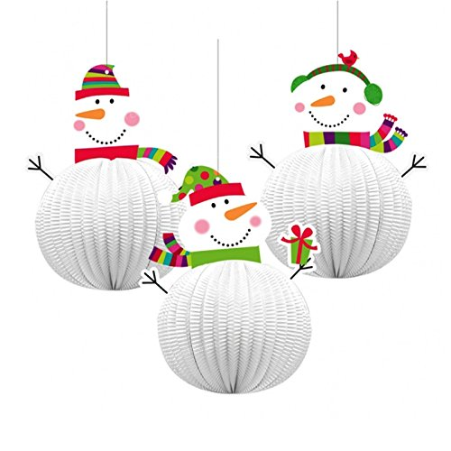 3-x-honeycomb-jolly-snowman-3d-xmas-hanging-party-festive-decorations-christmas-ceiling-window-wall-