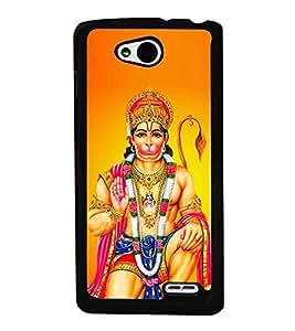 Bajrang Bali 2D Hard Polycarbonate Designer Back Case Cover for LG L90