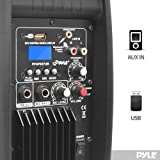 Pyle PPHP837UB 8-Inch 600 Watt Bluetooth Speaker System with USB Flash Reader AUX/MP3 Input and Included Remote Control
