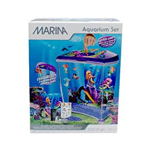 Hagen marina plastic mermaid betta aquarium decor amazon for Betta fish tanks amazon