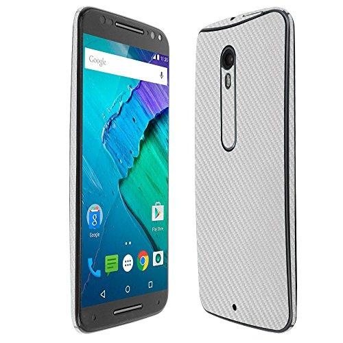 Skinomi TechSkin - Motorola Moto X Pure Edition/Moto X Style Screen Protector + Silver Carbon Fiber Full Body Skin / / Front & Back Clear Film / Ultra HD & Anti-Bubble Shield (Carbon Fiber Moto X compare prices)