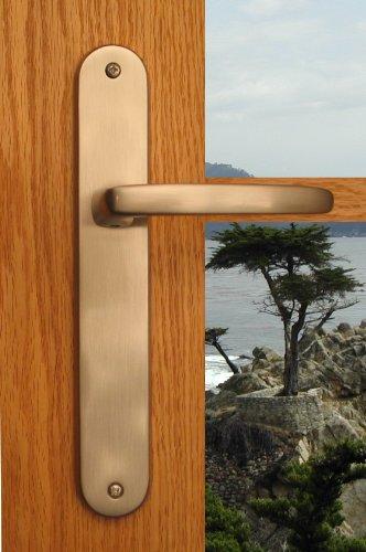 Mortise Lock Entry Door Lockset With Deadbolt Monterey Lever Handle Door Hardware In Oil Rubbed Bronze Finish front-1076177