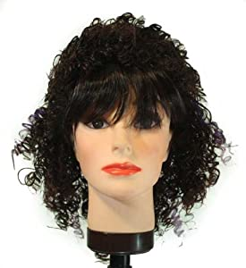 16 inch Medium Small Spiral/ Straight Bangs Synthetic wig