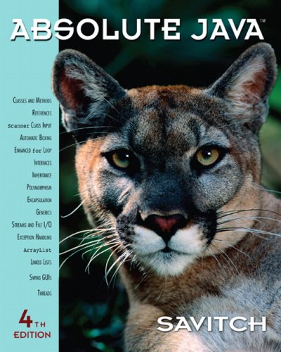Absolute Java (4th Edition)