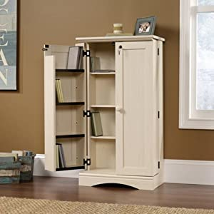 Harbor View Antique Cream Media Storage Cabinet Antique Cream