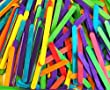 Wooden Coloured Standard Lolly Sticks x 250