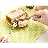 Runboo-Kartoon-Besteck-Porzellangeschirr-Messer-Esstbchen-Gabel-Lffel-Essgeschirr-MesserVerbltteriges-Kleeblatt