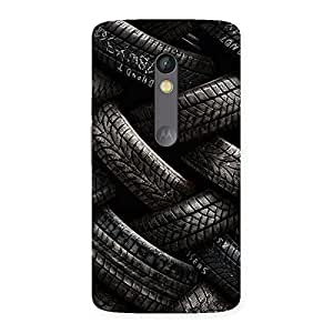 Impressive Knot Tyre Back Case Cover for Moto X Play