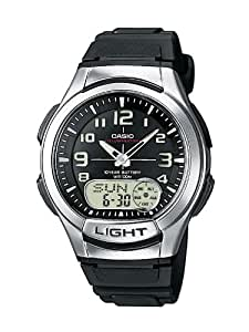 Casio Aq-180W-1Bvef Mens Resin Combi Watch with Back Light