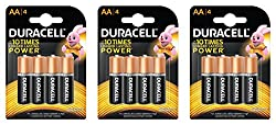 Duracell Alkaline Battery AA with Duralock Technology (12 Pieces)