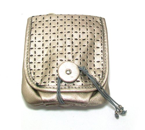 Tokyobay Ladies Vegan Leather Metro Perforated Front Flap Cross Body Handbag (Silver Metallic)