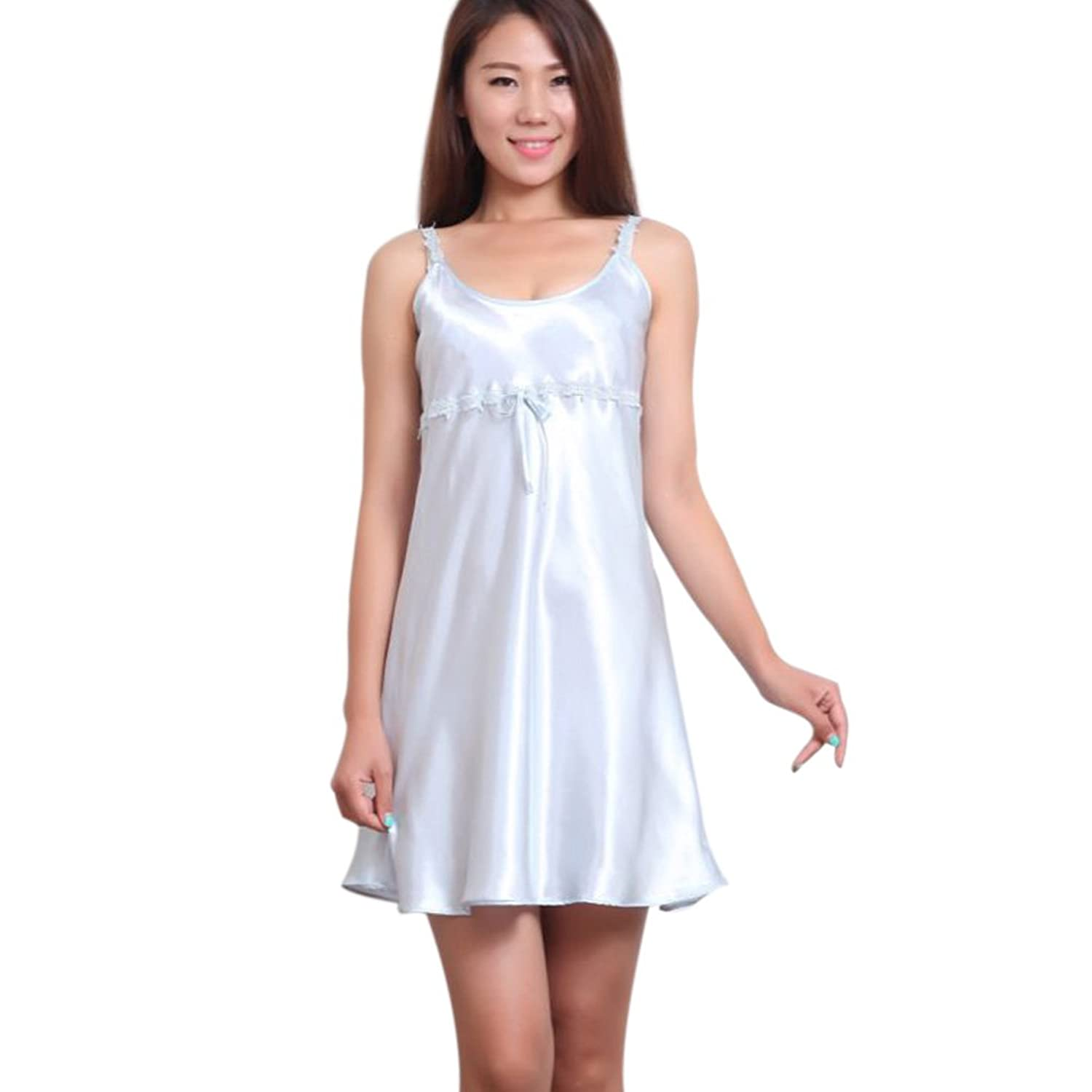 S-ZONE Summer Sexy Night-gowns Sleep Dress For Women,Silk,One-Piece аксессуары sonance cb1 one zone connecting block