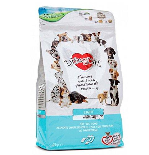 Disugual Adult Medium Light 2 kg - Alimento completo, crocchette per cani di taglia media con tendenza al sovrappeso