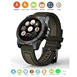 Bluetooth Smart Watch Compass Heart Rate Monitor Waterproof Smartwatch Fitness Tracker For Android IOS Smart Watch Waterproof Sport Pedometer Heart Rate Monitor Smartwach For Apple iPhone Android Wear