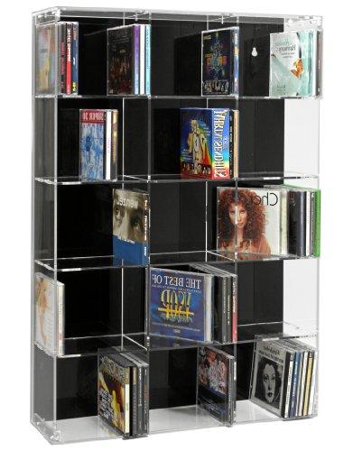 SORA Acrylic CD Rack with black back-panel