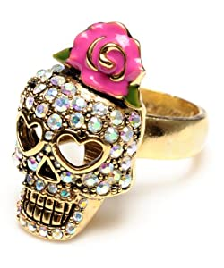 Betsey Johnson Betsey The Vampire Slayer Skull Ring - Size 7 1/2