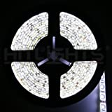 Hitlights Weatherproof High Brightness SMD5050 300 LEDs(Double Density) Flexible Ribbon Lighting Strip, Cool White, 5M or16.4 Ft, 12 VDC Input (Adapter Not Included)