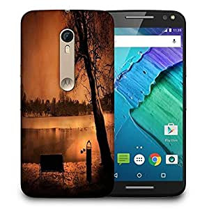 Snoogg Evening Lake View Printed Protective Phone Back Case Cover For Motorola X Style