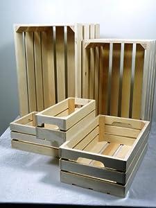 holzkisten set 5 tlg rechteckig aufbewahrungsbox holzbox. Black Bedroom Furniture Sets. Home Design Ideas
