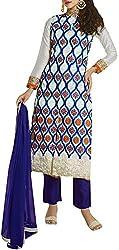 VIDA Women's Georgette Salwar Suit Material (White)
