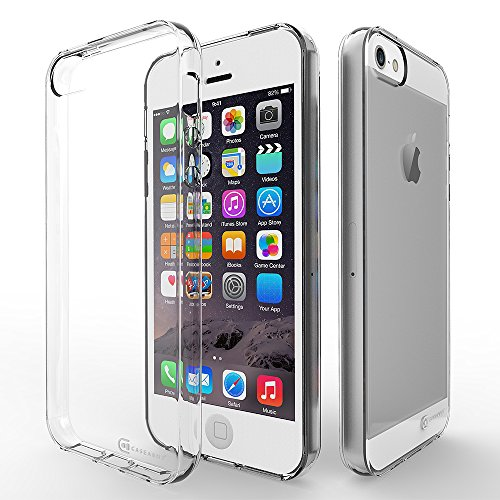 Apple iPhone SE | 5 | 5S | 5G Case, Case Army Scratch-Resistant Slim Clear Case for iPhone SE | 5S Silicone Crystal Clear Shock-Dispersion Technology Cover with TPU Bumper (Limited (Slim Iphone 5 Bumper compare prices)