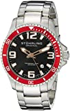 Stuhrling Original Men's 395.33TT11 Analog Regatta Champion Swiss Quartz Date Stainless Steel Link Bracelet Dive Watch