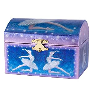 Blue ballerina swan lake music jewelry box for Amazon ballerina musical jewelry box