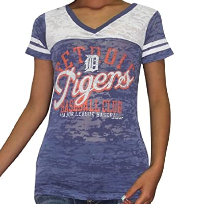 MLB Detroit Tigers Womens V-Neck Cotton T-Shirt / Tee