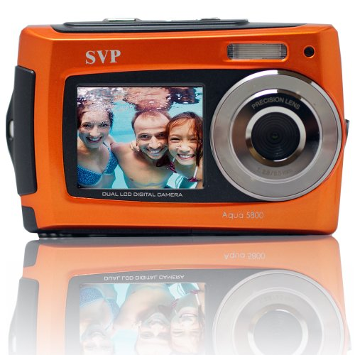Aqua 5800 Orange 18 MP Dual Screen Waterproof Digital Camera