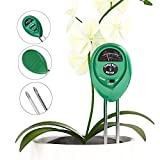 Sokos 3-in-1 Soil Moisture Meter, Light and pH / acidity Meter Plant Tester, Helpful for Garden, Farm, Lawn, Indoor & Outdoor (No Battery Required)