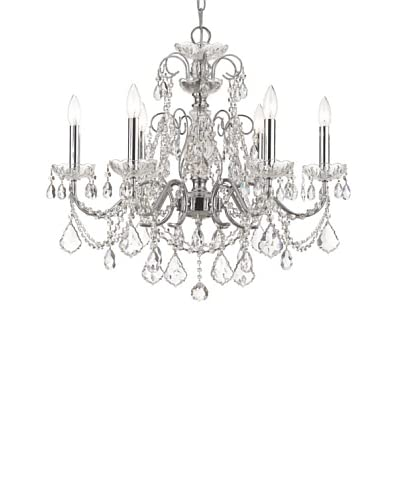 Gold Coast Lighting Elegant Chandelier, Polished Chrome