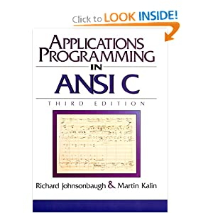 Johnsonbaugh and Kalin Applications Programming in ANSI C