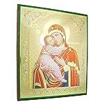 Ikonenbild Maria mit Kind auf Holzplatte