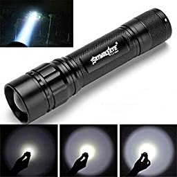 Lookatool Focus 3000 Lumens 3 Modes CREE XML T6 LED 18650 Flashlight Torch Lamp Powerful - For Hiking, Camping, Blackouts and Emergencies!