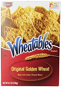 Wheatables Original Golden Wheat Crackers, 8.5-Ounce (Pack of 4)