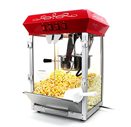 Paramount 8oz Popcorn Maker Machine - New Upgraded Feature-Rich 8 oz Hot Oil Popper [Color: Red] (Hot Oil Popcorn Machine compare prices)