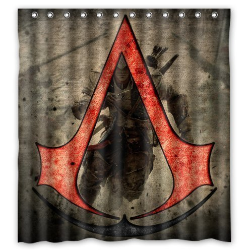 """baodan Zhang Custom Assassin' s Creed Design di alta qualità tessuto impermeabile Bagno Doccia Tenda 66""""(W) X 72(H)"""