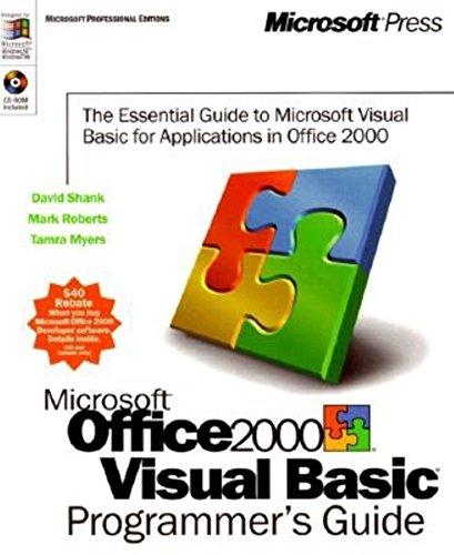 Microsoft Office 2000 Visual Basic. Programmer's Guide