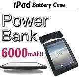 Apple iPad バッテリーケース Power Bank 大容量6000mAh フルカバー
