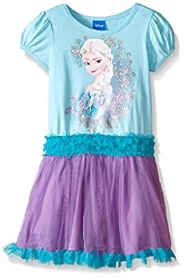 Disney Girls' Aqua Frozen Tutu Dress