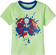 NINJA HATTORI  Boys' T-Shirt (NH 20 A_Lime Green_3 - 4 years)