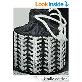 KNITTED DRAWSTRING BUCKET PURSE PATTERN: Vintage Bag No. 2802