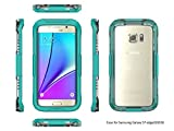 Galaxy S7 Edge Case, S7 Edge Case, ArtMine Waterproof Underwater Fingerprint Recognition Touch ID Heavy Duty Shockproof Durable Protective Case for Samsung Galaxy S7 Edge (Mint) 2016