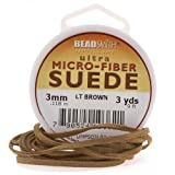 Beadsmith Light Brown Faux Leather Suede Beading Cord 9Ft 3 Yd Spool