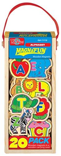 T.S. Shure ABCs Wooden Magnets Magna Fun Set (20 Piece)