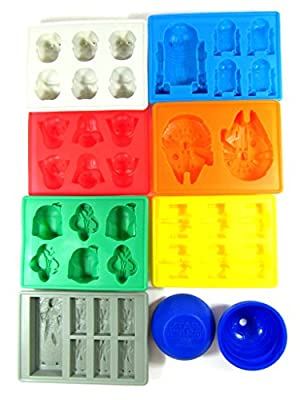 OliaDesign Star Wars Theme Style Molds for Ice Cubes Chocolate Perfect Christmas Gift, Blue