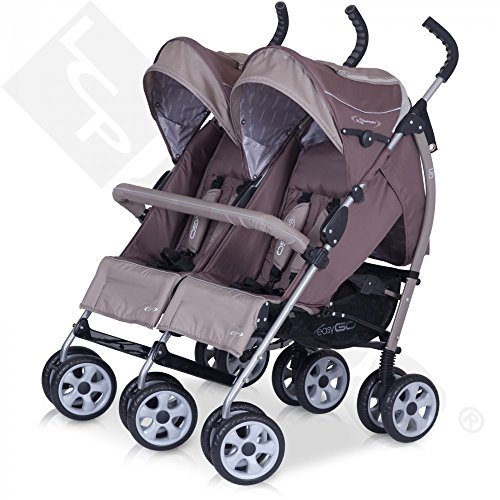 Pram Stroller for Twins - Baby Aluminium Pushchair, Colour Chocolate