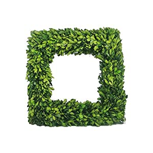 Mills Floral Company Boxwood Square Wreath 16""